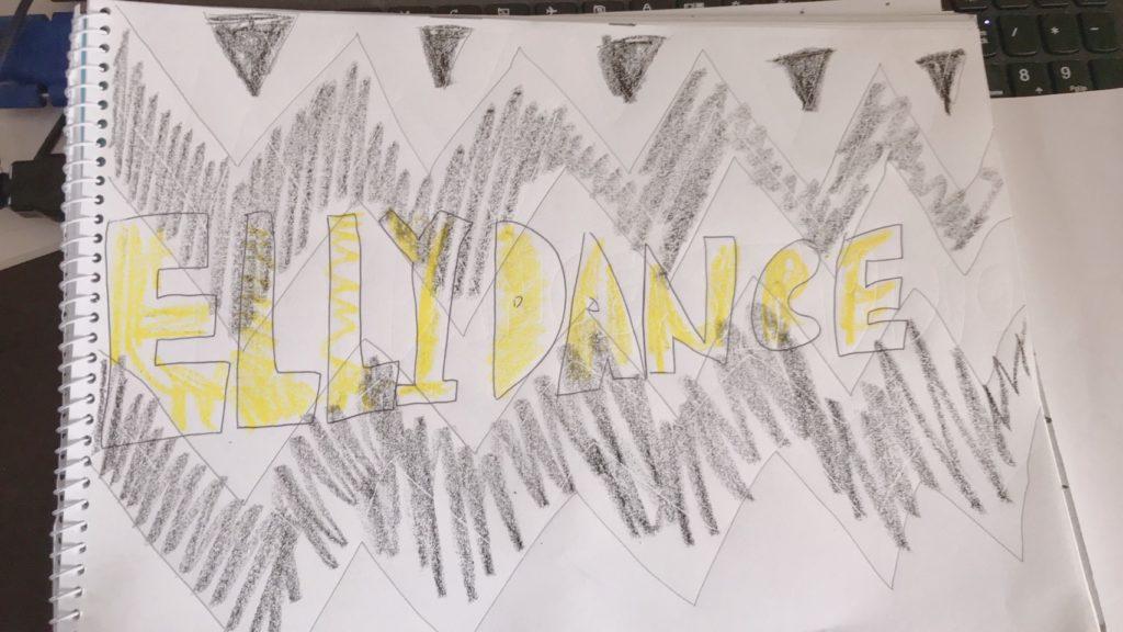 ダンスチーム手書きのデザイン