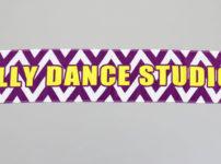 エリーダンススタジオのマフラータオル完成写真